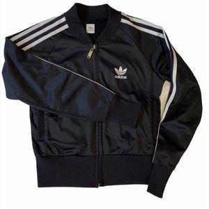 Vintage 90s Adidas Bomber Track Jacket Black   XS